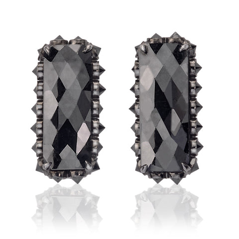 Black diamonds slices studs