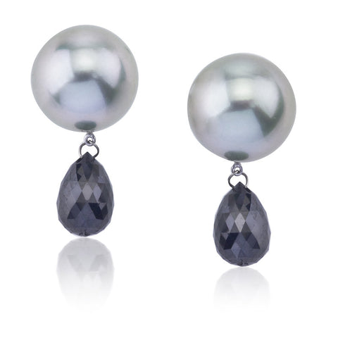 Anna black briolette earrings