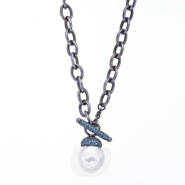 Blue talisman necklace