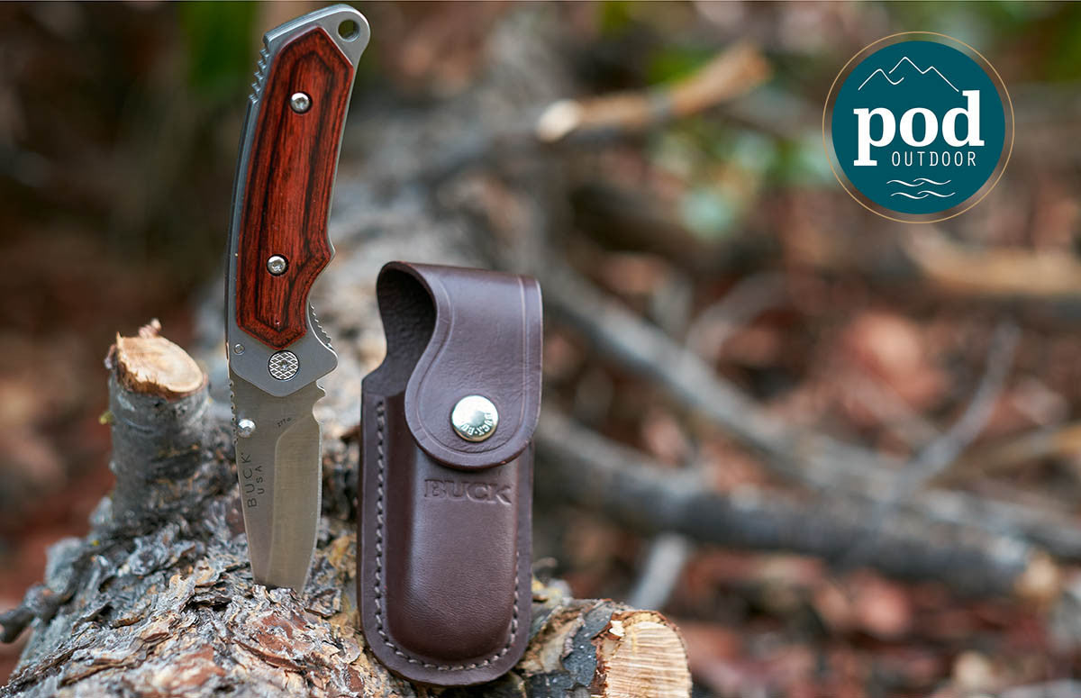 Buck Knives Folding Alpha Hunter With Rosewood Handle Review