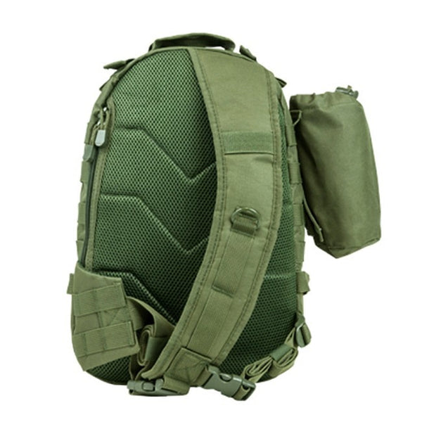 NcStar Small Sling Backpack With Bottle Holder - Green