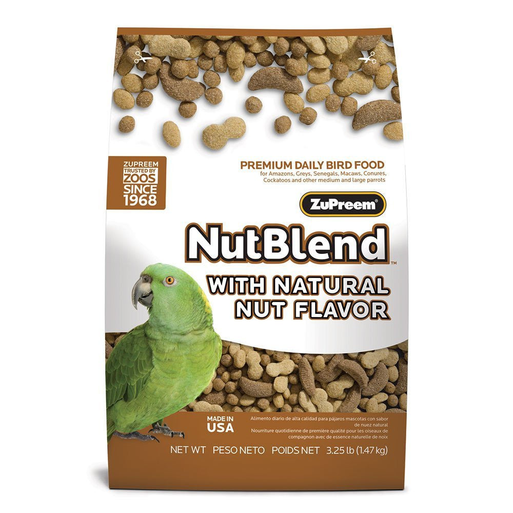 Parrot Nutblend Bird Food Pellets 3.25 lb (1.47 kg) - Feathered Friends of Santa Fe (www.ffofsf.com)