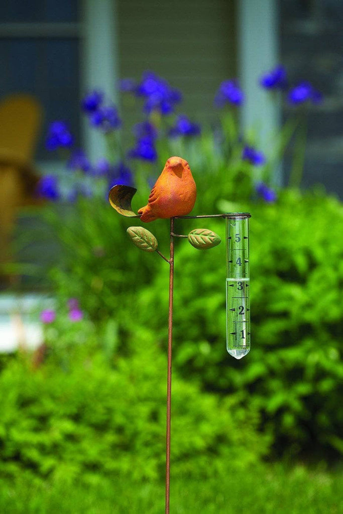 Bird Terra Cotta Rain Gauge
