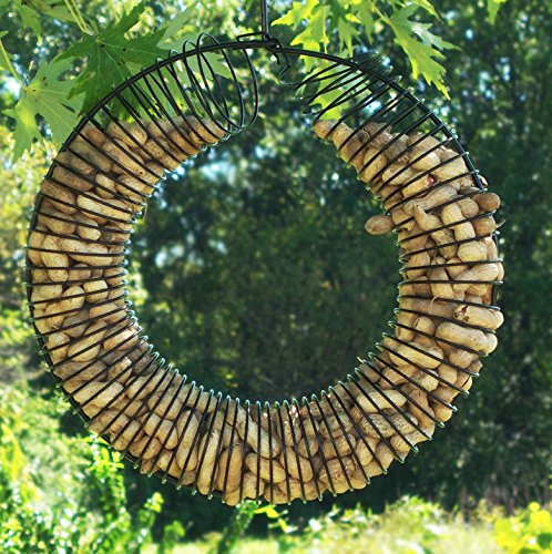 Whole Peanut Wreath Feeder (Black)