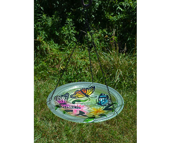 Butterfly Trio Hanging Bird Bath
