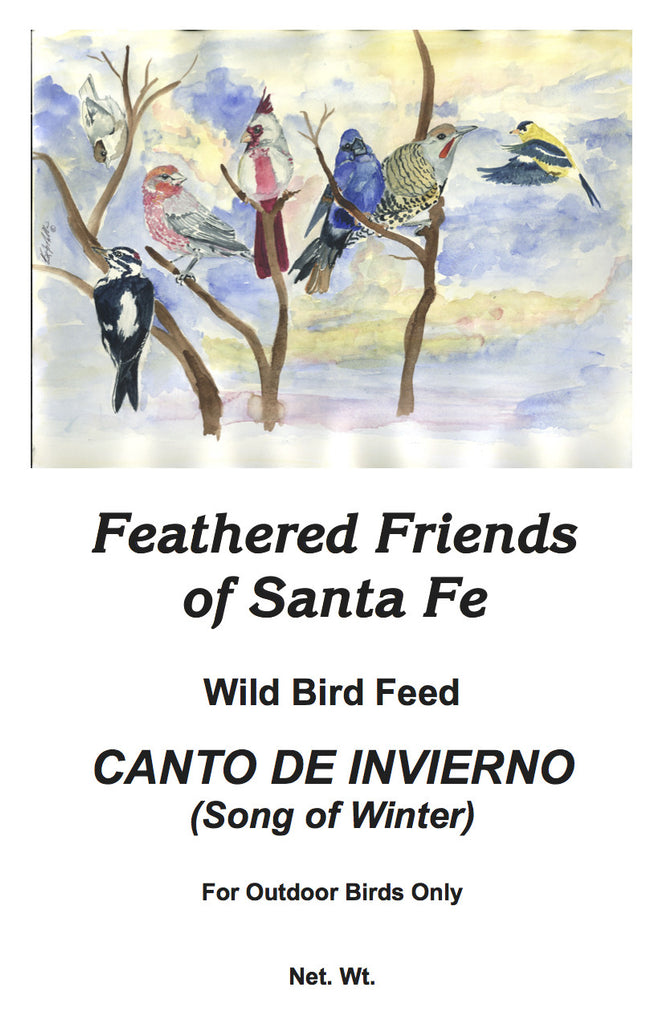 Canto de Invierno (Song of Winter) | Wild Bird Seed 25 lb (11.33 kg) - Feathered Friends of Santa Fe (www.ffofsf.com)