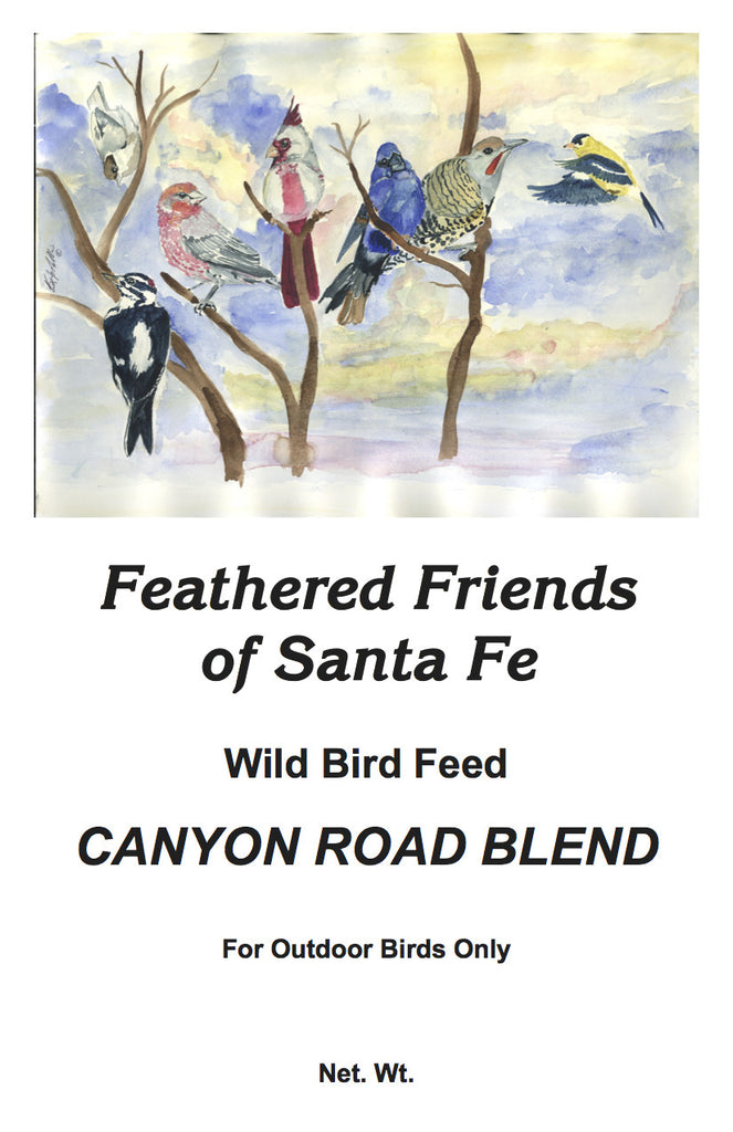 Canyon Road Blend | Wild Bird Seed 20 lb (9.07 kg) - Feathered Friends of Santa Fe (www.ffofsf.com)