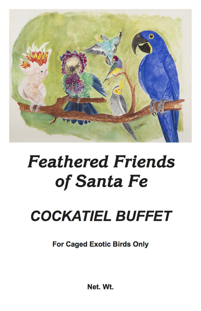 Cockatiel Buffet | Exotic Bird Seed - Feathered Friends of Santa Fe (www.ffofsf.com)