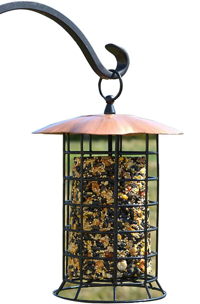 Copper Roof Suet or Seed Log Feeder