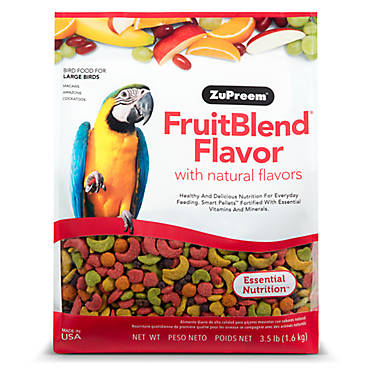 Large Macaw Size Fruit Blend Avian Maintenance Bird Food Pellets 3.5 lb (1.59 kg)