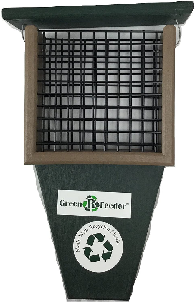 Suet Feeder with Tail Prop (Hunter Green)