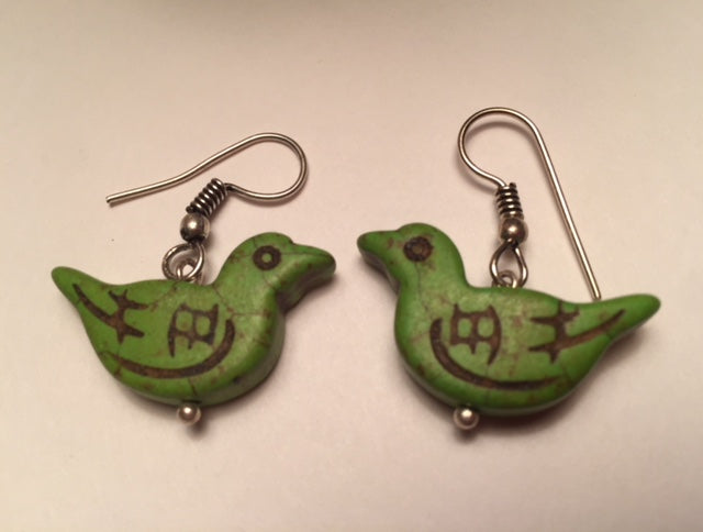 Handcrafted Bird Earrings