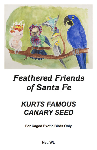 Kurt's Famous Canary Seed | Wild Bird Seed - Feathered Friends of Santa Fe (www.ffofsf.com)