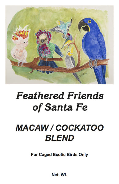 Macaw/Cockatoo Blend | Exotic Bird Seed - Feathered Friends of Santa Fe (www.ffofsf.com)