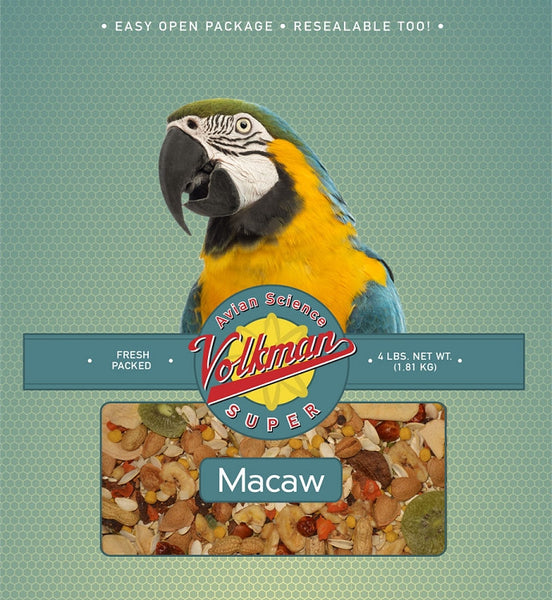 Avian Science Super Macaw Bird Seed 4 lb (1.81 kg) - Feathered Friends of Santa Fe (www.ffofsf.com)