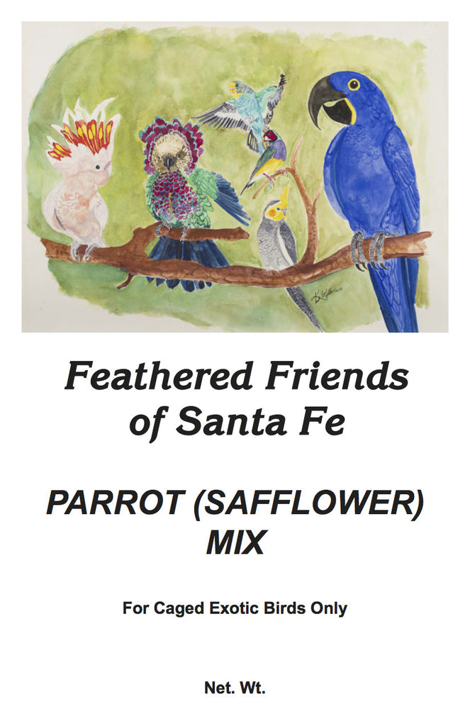 Parrot (Safflower) Mix | Exotic Bird Seed - Feathered Friends of Santa Fe (www.ffofsf.com)