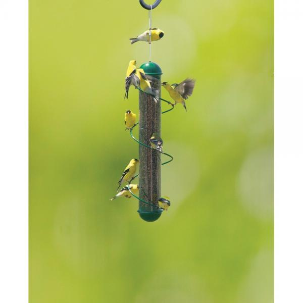 17 in Green Spiral Nyjer Finch Feeder