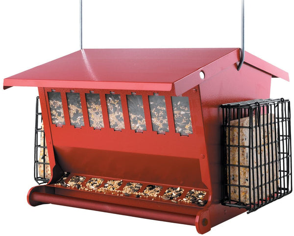Audubon Seeds 'n More Metal Hopper Bird Feeder