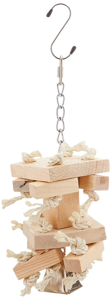 Natural Wood Block & Sisal Parrot Toy, Large