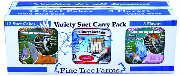 3 Flavors | Variety Suet 12 Pack