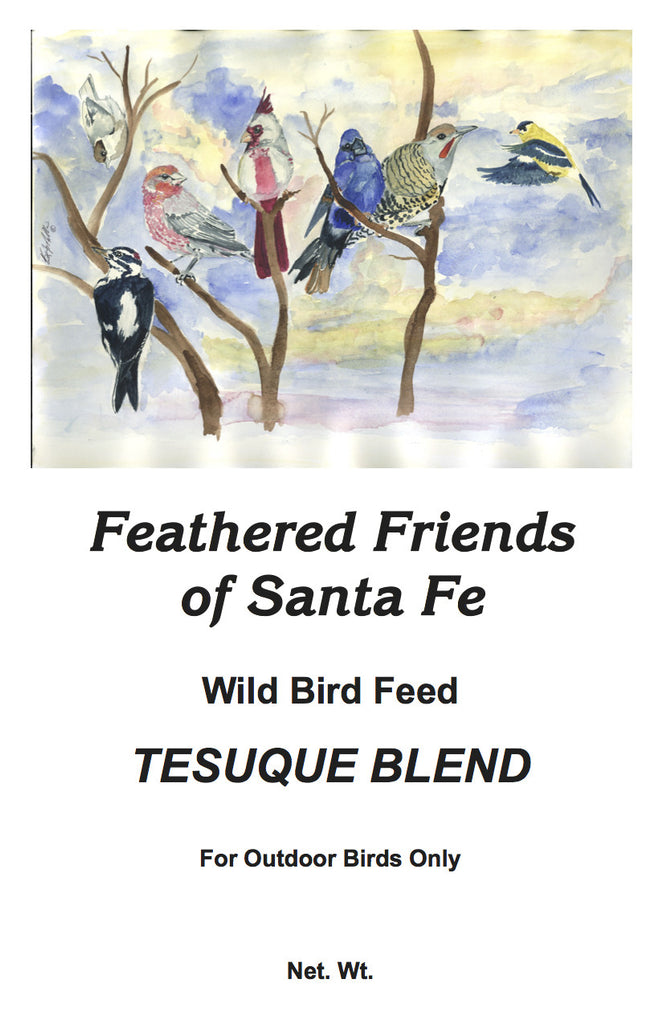 Tesuque Blend | Wild Bird Seed 20 lb (9.07 kg) - Feathered Friends of Santa Fe (www.ffofsf.com)