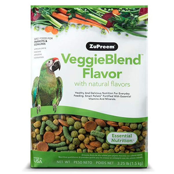 Large Parrot Size Veggie Blend Bird Food Pellets  3.25 lb (1.47 kg)