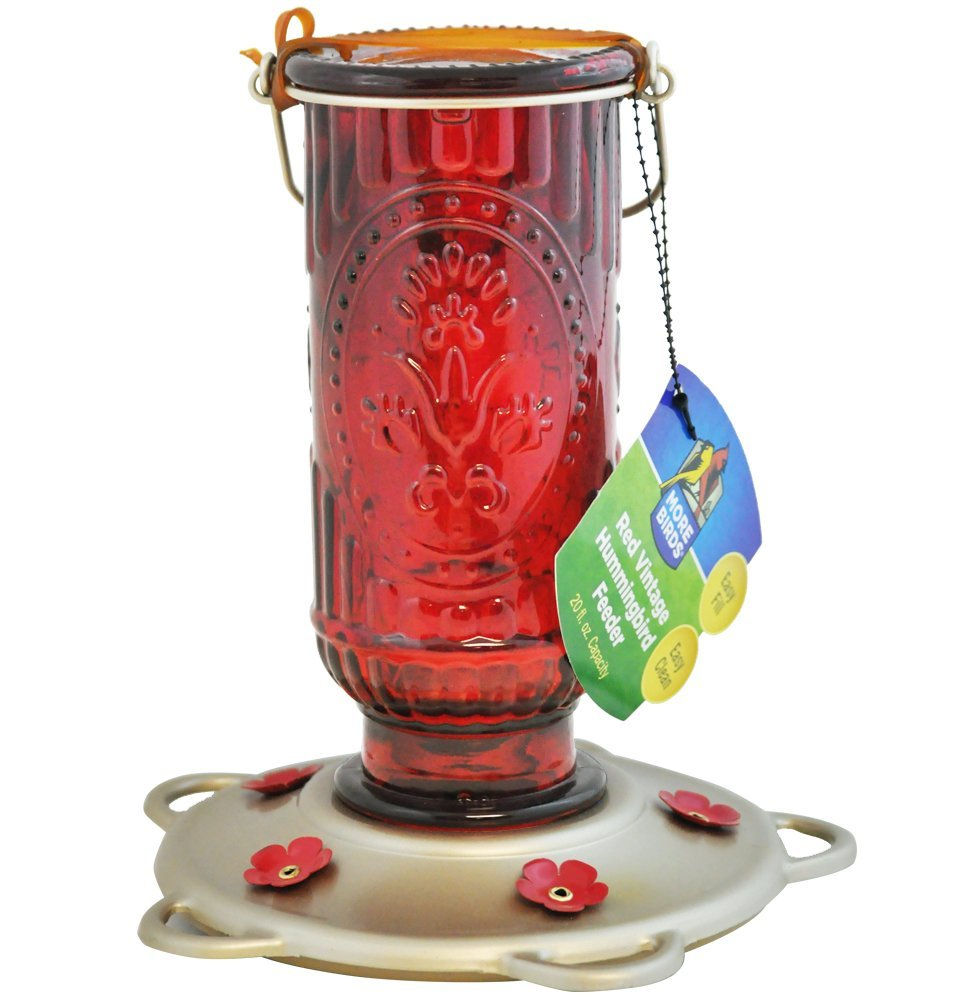 Red Vintage Hummingbird Feeder - 20 fl. oz.