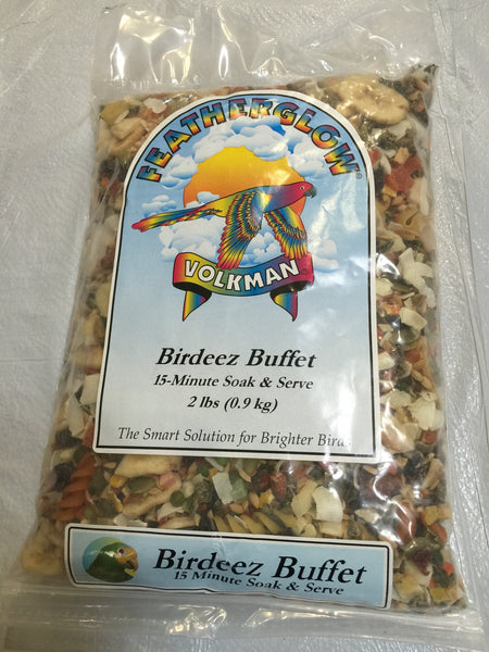 Featherglow Birdeez Buffet 15 Minutes Soak & Serve by Volkman 2 lb (0.9 kg) - Feathered Friends of Santa Fe (www.ffofsf.com)