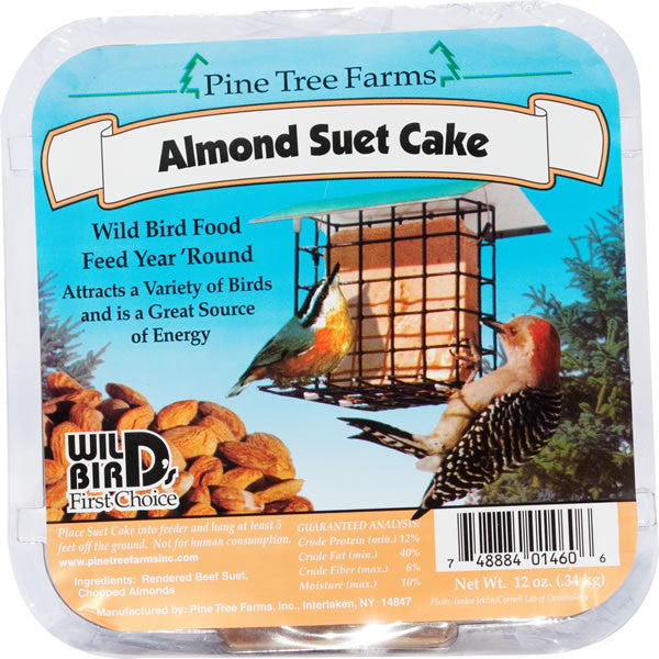 Almond Suet Cake 12 oz | Wild Bird Food - Feathered Friends of Santa Fe (www.ffofsf.com)