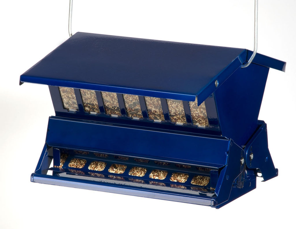 Absolute 11 Electric Blue Squirrel Resistant Bird Feeder Lg.