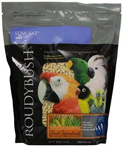 Low-Fat Maintenance Bird Food Pellets, Small 2.75 lb (1.25 kg) (44 oz) - Feathered Friends of Santa Fe (www.ffofsf.com)