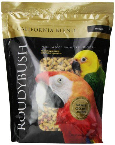 California Blend Bird Food Pellets, Medium  2.75 lb (1.25 kg) (44 oz) - Feathered Friends of Santa Fe (www.ffofsf.com)