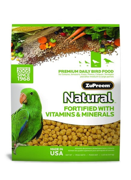 Parrot Size Natural Bird Food Pellets 3 lb (1.36 kg) - Feathered Friends of Santa Fe (www.ffofsf.com)