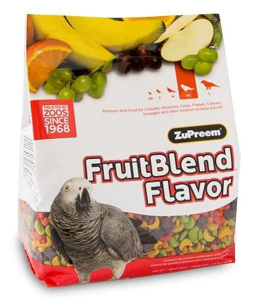African Grey Parrot Size Fruit Blend Avian Maintenance Bird Food Pellets 3.5 lb (1.59 kg) - Feathered Friends of Santa Fe (www.ffofsf.com)