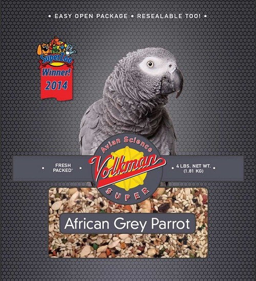 Avian Science Super African Grey Parrot Mix 4 lb (1.81 kg) - Feathered Friends of Santa Fe (www.ffofsf.com)