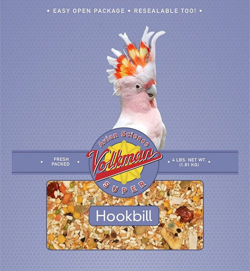 Avian Science Super Hookbill Bird Seed - No Sunflower Seeds 4 lb (1.81 kg) - Feathered Friends of Santa Fe (www.ffofsf.com)
