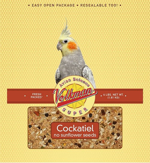 Avian Science Super Cockatiel Food No Sunflower Seeds 4 lb (1.81 kg) - Feathered Friends of Santa Fe (www.ffofsf.com)