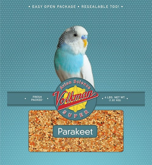 Avian Science Super Parakeet Bird Seed 4 lb (1.81 kg) - Feathered Friends of Santa Fe (www.ffofsf.com)