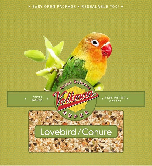 Avian Science Super Lovebird-Conure Bird Seed 4 lb (1.81 kg) - Feathered Friends of Santa Fe (www.ffofsf.com)