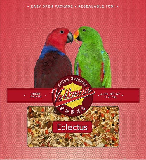 Avian Science Non Vitamin Fortified Super Eclectus Food 4 lb (1.81 kg) - Feathered Friends of Santa Fe (www.ffofsf.com)
