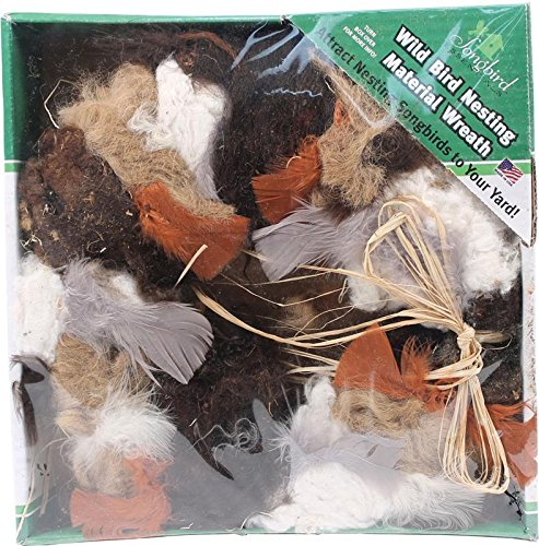 Wild Bird Nesting Material Wreath