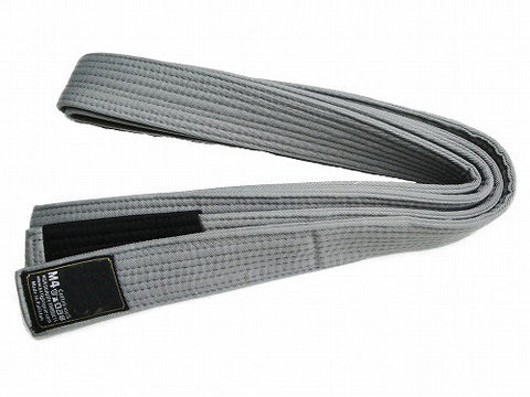 DELUXE BJJ BELT, GREY WITH BLACK TIP