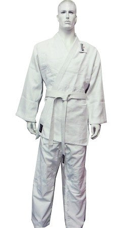 DRAGON WHITE JUDO 1.0 GOLD WEAVE UNIFORMS