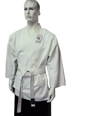 DRAGON KARATE SALT N PEPPER UNIFORM - 8oz