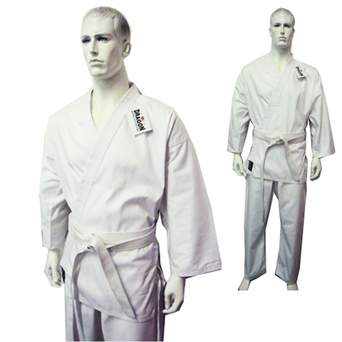 DRAGON KARATE UNIFORM (WHITE) - 8oz