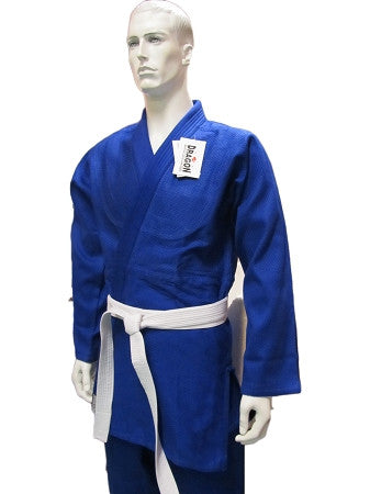 DRAGON BLUE JUDO 1.5 GOLD WEAVE UNIFORM