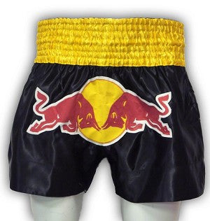 MORGAN DOUBLE BULL MUAY THAI SHORTS - BLACK & GOLD