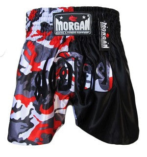 MORGAN 50/50 BLOOD CAMO MUAY THAI SHORTS