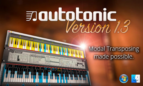 AutoTonic NEW Version 1.3 FULL MAC WINDOWS 64 Bit Transposer MIDI Transposing Quantizer