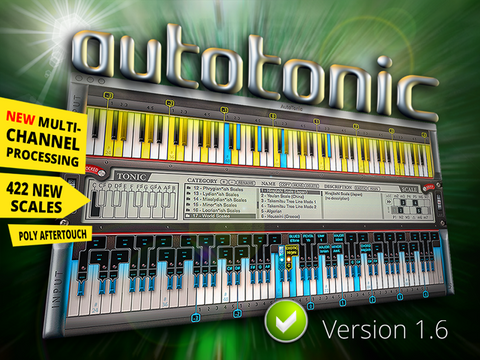 AutoTonic version 1.6 Full Mac Win MIDI Transposer Poly Aftertouch AT Patched Serial Cracked